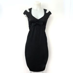 Escada Silk Dress size 34 Black Cocktail Evening